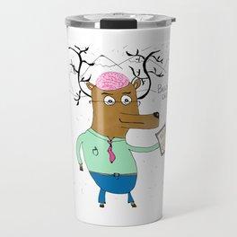 Brain Deer Travel Mug