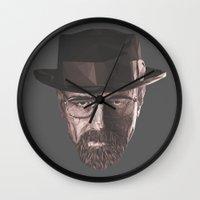 heisenberg Wall Clocks featuring Heisenberg  by malobi