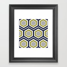 Hexagons and Zigzags Framed Art Print