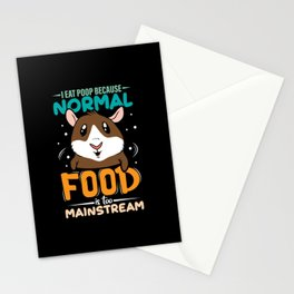 Normal Food is too Mainstream cute design Stationery Cards