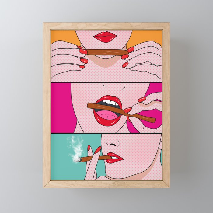 comics Framed Mini Art Print