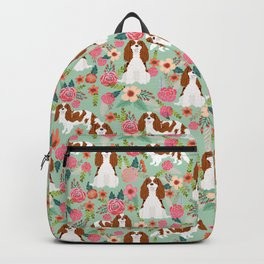 Blenheim Cavalier King Charles Spaniel dog breed florals pattern Backpack