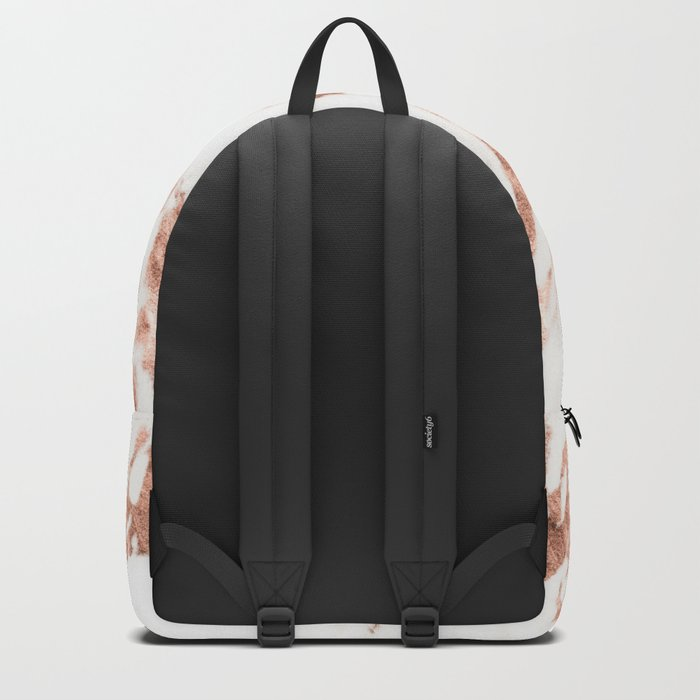 Rose Gold Marble - Perfect Pink Rose Gold Marble Backpack