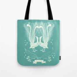 Lyrebird (eggshell blue) Tote Bag