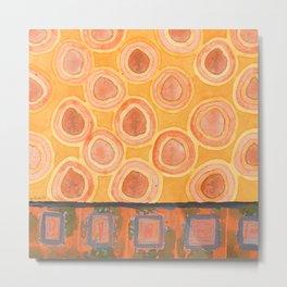 Flying Orange Circles Metal Print