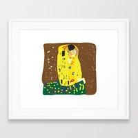 klimt Framed Art Prints featuring klimt by John Sailor