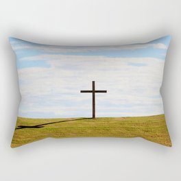 Cross On A Hill Rectangular Pillow