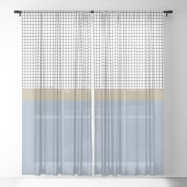 Grid 1 Sheer Curtain