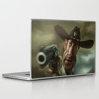 rick grimes Laptop & iPad Skins featuring Rick Grimes from 'The Walking Dead'. by Alexander Novoseltsev