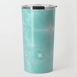 Fleur de Nuit in Aqua Tone Travel Mug