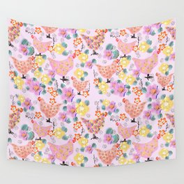 Floral Easter  pattern  Wall Tapestry