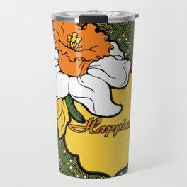 Qua-trefoil Daffodils Travel Mug