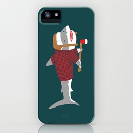 Shark LumberJack iPhone Case