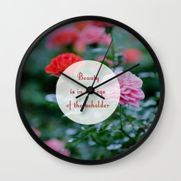 Flower Beauty Wall Clock