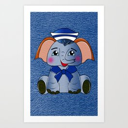 Plumpy the Sailor Art Print