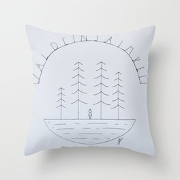 Simple forest drawing Throw Pillow