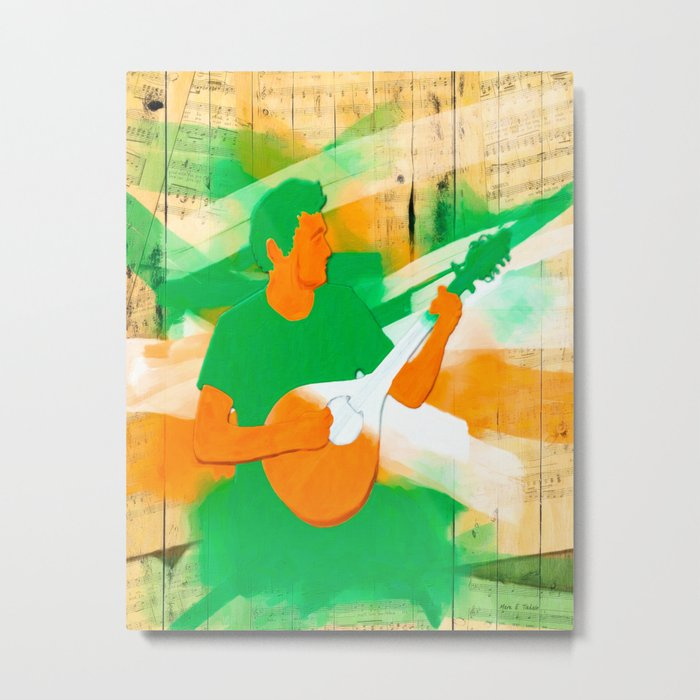 Irish Music Warmly Remembered Metal Print