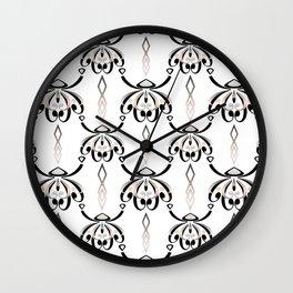 Pattern in style Art Deco 3 Wall Clock