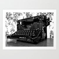 writer Art Prints featuring Antique writer by Vorona Photography