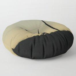 Longhorn at Sunset Floor Pillow