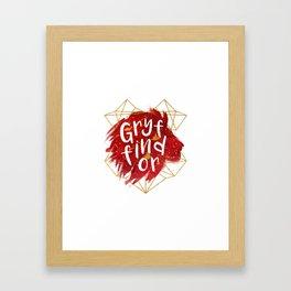 Gryffindor Gold Splatter Framed Art Print