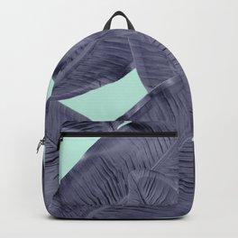 tropical leaf in blue  Backpack
