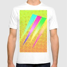 angles MEDIUM White Mens Fitted Tee