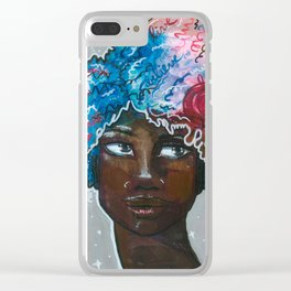 Dream Up Girl Clear iPhone Case