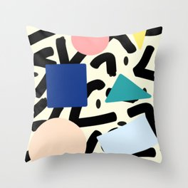 Burros de colores Throw Pillow