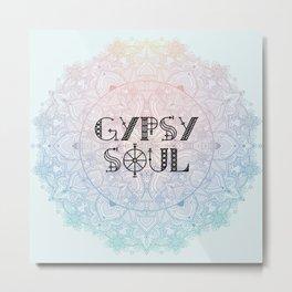 Gypsy Soul Boho Hippy Mandala Metal Print