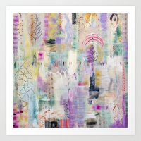 flora bowley Art Prints featuring Whisper Truth Original Painting by Flora Bowley by Flora Bowley