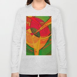 Tropical Farm Woman Long Sleeve T-shirt