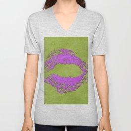 dp048-7 Watercolor kiss Unisex V-Neck