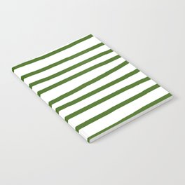 Simply Drawn Stripes in Jungle Green Notebook