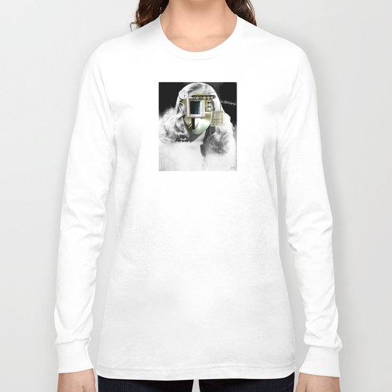 She´s got the look... Collage Long Sleeve T-shirt
