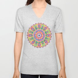 Summer Dewdrop Mandala Unisex V-Neck