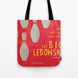 The Big Lebowski - Movie Poster, Coen brothers film, Jeff Bridges, John Turturro, bowling Tote Bag
