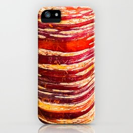 Red, yellow, brown bark of a tree - autumn colours of nature iPhone Case