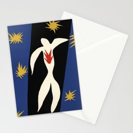 Henri Matisse The fall of Icarus (La Chute d'Icare) from Jazz Collection, 1947, Artwork, Men, Women, Stationery Cards