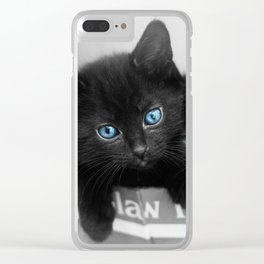 Blue Eyed Kittens Clear iPhone Case