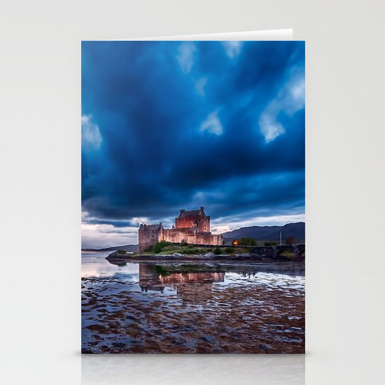 Stormy Skies over Eilean Donan Castle 2 Stationery Cards