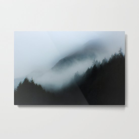 Foggy British Columbia Metal Print