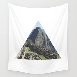 Machu Picchu - Geometric Photography Wall Tapestry