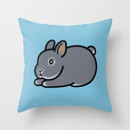 Netherland Dwarf Bunny Loaf Throw Pillow