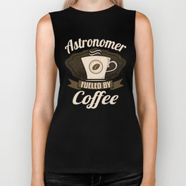 Astronomer Fueled By Coffee Biker Tank