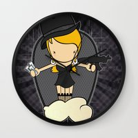 gangster Wall Clocks featuring Gangster Style by Jaqueline Teixeira
