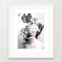 grunge Framed Art Prints featuring Grunge by Shepherd Norman