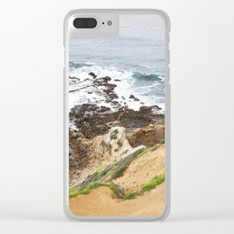 The Pacific Coast Along PVE, CA Clear iPhone Case