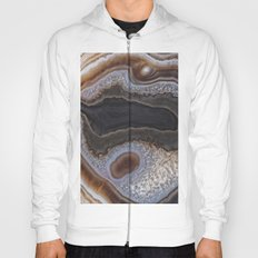 Chocolate colored Agate Crystals Hoody
