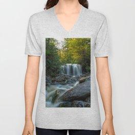 Image USA Elakala Falls Blackwater Falls State park Nature Waterfalls Parks stone Trees Stones Unisex V-Neck
